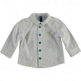 CKS Shirt baby boy white with multicolor triangles