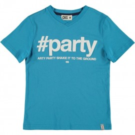 CKS T-shirt short-sleeved boy turquoise