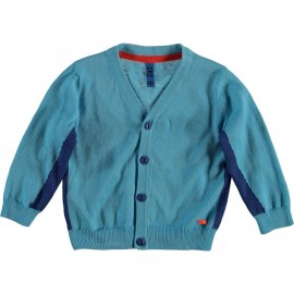 CKS Cardigan baby boy turquoise and cobalt blue