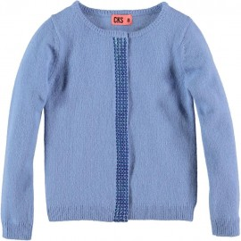 CKS Cardigan round neck girl lavender blue