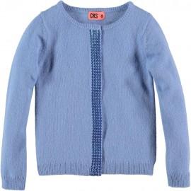 CKS Cardigan round neck girl lavender blue
