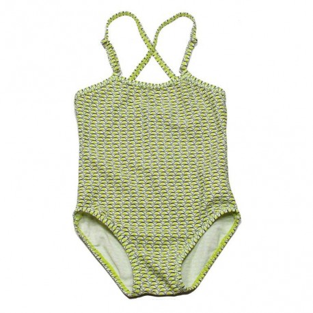 KIDSCASE Swimsuit girl lime green
