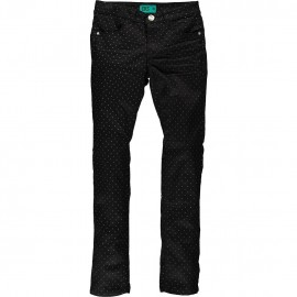 CKS Trousers slim fit girl black with silver dots