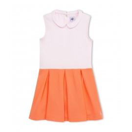 PETIT BATEAU Dress girl light pink orange
