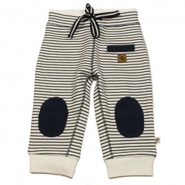 DUCKY BEAU Trousers jogging baby boy white with dark blue lines