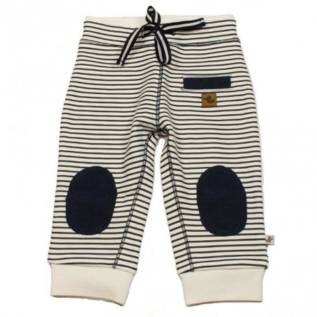 Ducky Beau soft trousers white with blue lines