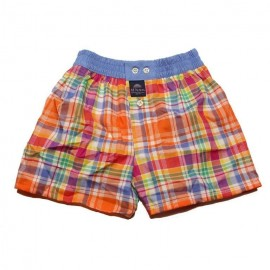 Mc ALSON Boxer short boy orange and fuchsia squares
