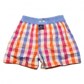 Mc Alson Boxer short boy orange, pink, white cubes