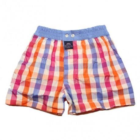 Mc Alson Boxer short boy orange, pink, white cubes
