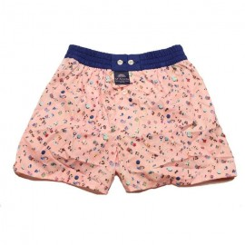 Mc ALSON Boxer short boy light pink with top view beach print