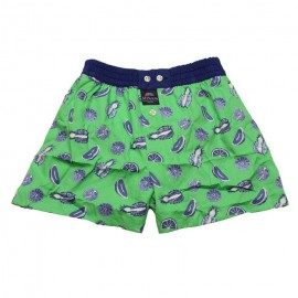 Mc ALSON Boxer short boy apple green with exotic fruits print