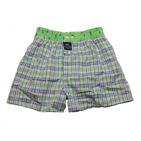 Mc ALSON Boxer short boy light blue with little squares