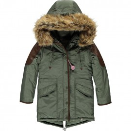 CKS Winter coat girl khaki green