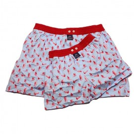 Mc ALSON Boxer short for me & my daddy gift package light blue with red surfers print