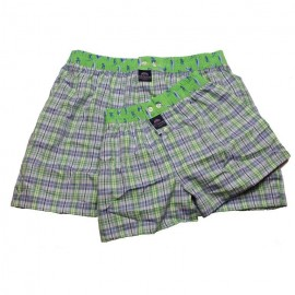 Mc ALSON Boxer short Father Son light blue with little squares