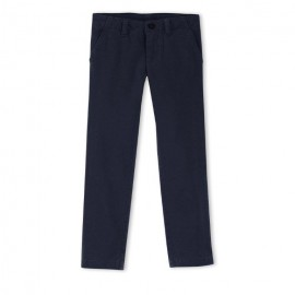 PETIT BATEAU Trousers chinos straight fit boy dark blue