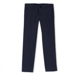 PETIT BATEAU Trousers chinos straight fit boy dark blue
