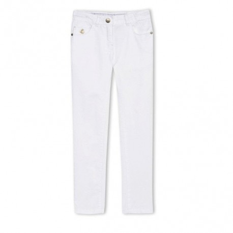 PETIT BATEAU Trousers slim fit girl white