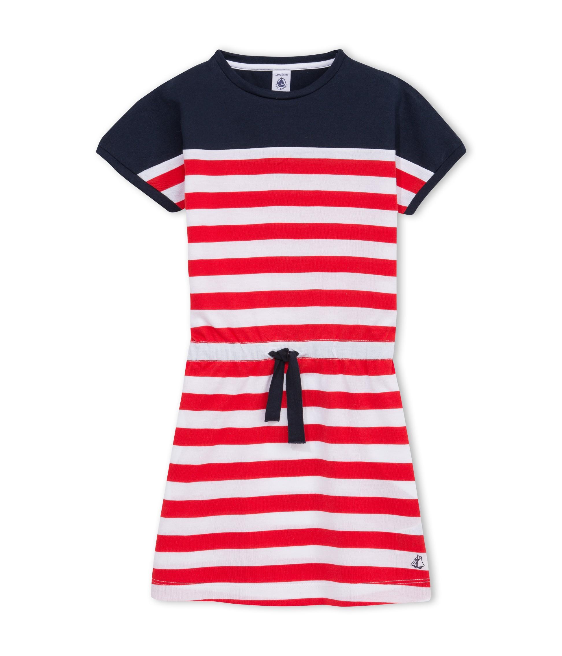 Robe mariniere rouge et bleu