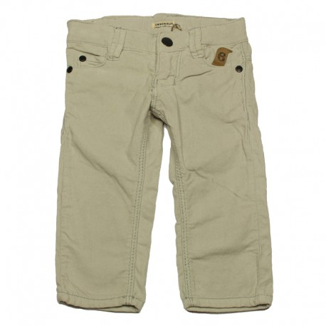 IMPS&ELFS Trousers corduroys slim fit boy light grey