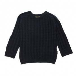 IMPS&ELFS Pullover knitted organic cotton unisex dark blue