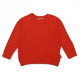 IMPS&ELFS Pullover knitted organic cotton boy & girl coral