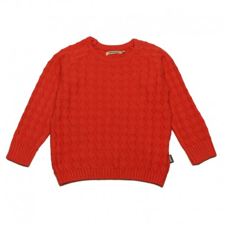 IMPS&ELFS Pullover knitted organic cotton unisex coral