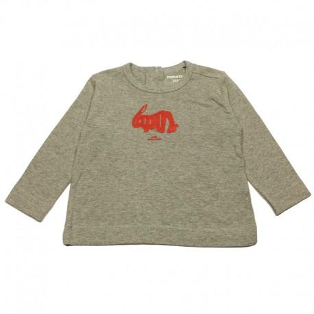 IMPS&ELFS T-shirt long-sleeved organic cotton girl mottled light grey