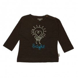 IMPS&ELFS T-shirt long-sleeved organic cotton boy & girl chocolate brown