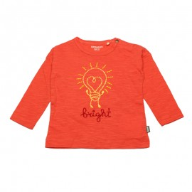 IMPS&ELFS T-shirt long-sleeved organic cotton boy & girl coral