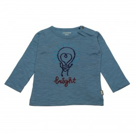 IMPS&ELFS T-shirt long-sleeved organic cotton boy & girl greyish blue