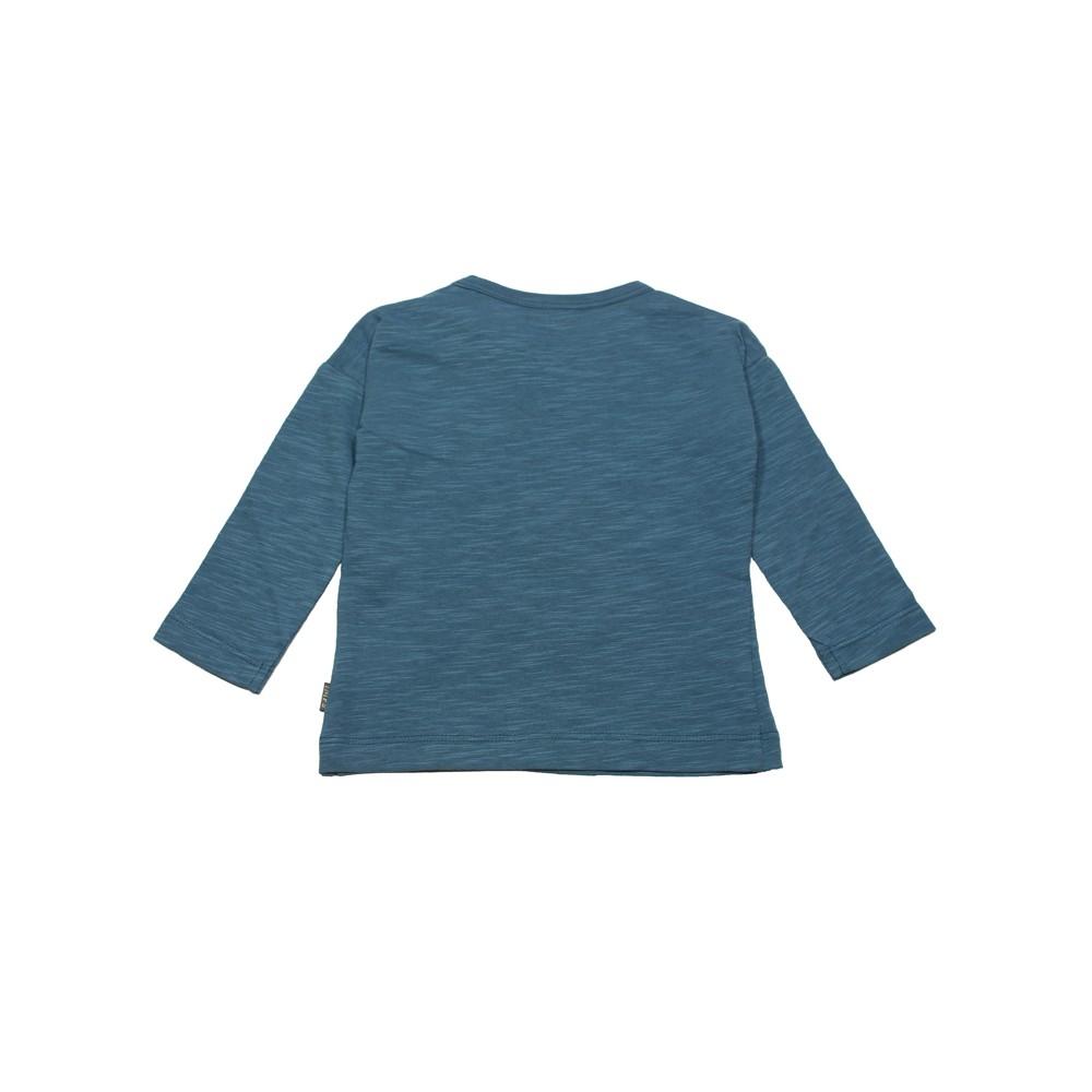 imps elfs t shirt manches longues coton bio gris bleu gar on fille. Black Bedroom Furniture Sets. Home Design Ideas