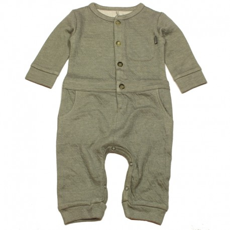 IMPS&ELFS Jumpsuit long-sleeved organic cotton boy & girl mottled grey