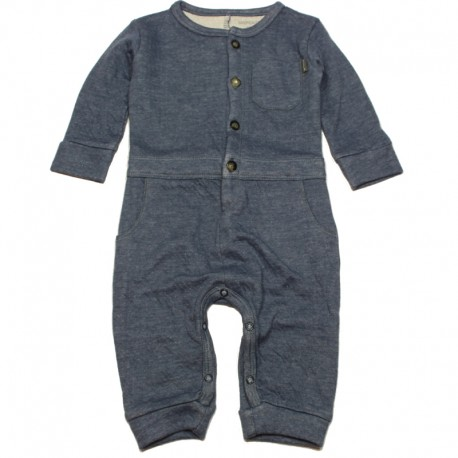 IMPS&ELFS Jumpsuit long-sleeved organic cotton boy & girl greyish blue