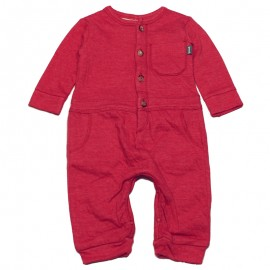 IMPS&ELFS Jumpsuit long-sleeved organic cotton boy & girl raspberry red