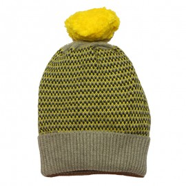 IMPS&ELFS Hat knitted organic cotton and wool boy & girl yellow
