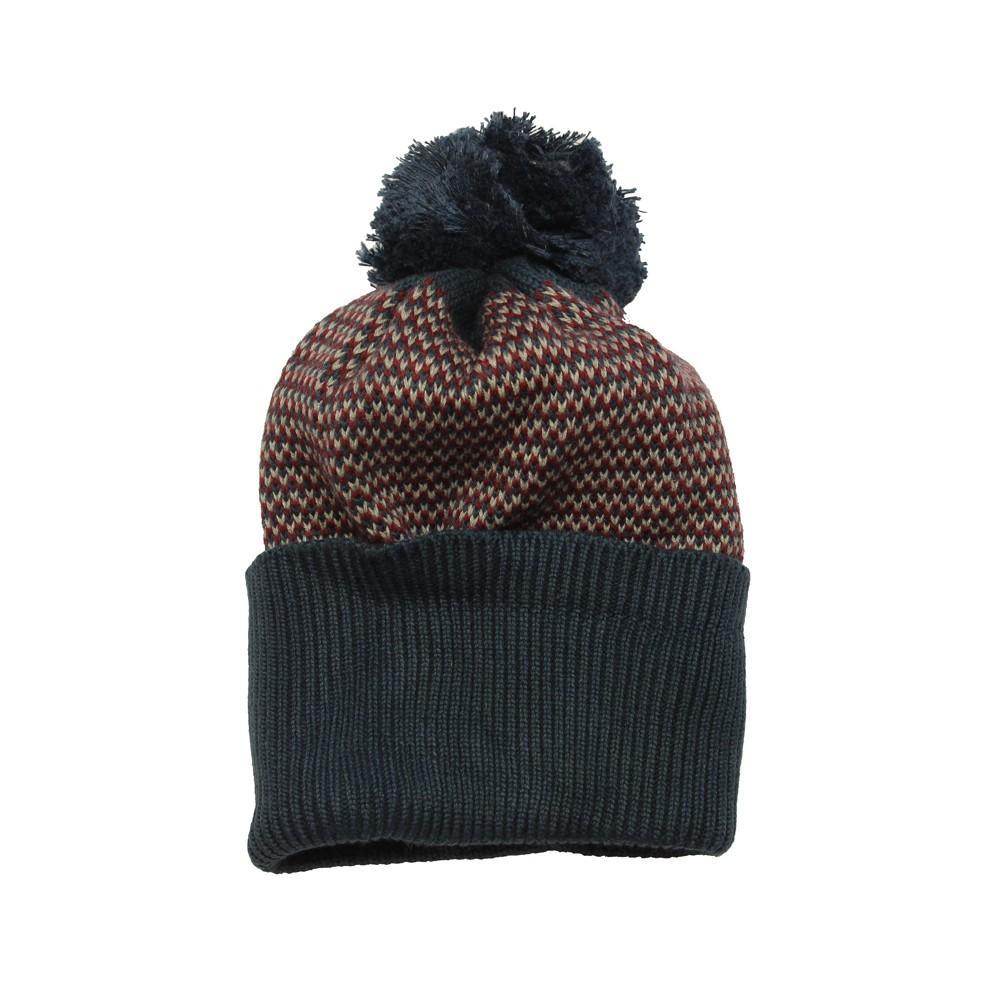 28edf83bc69e IMPS ELFS Bonnet tricoté coton bio laine garçon   fille rouge bordeaux
