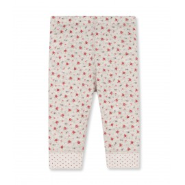 PETIT BATEAU Leggings reversible girl mottled light pink with flowers