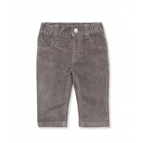 PETIT BATEAU Trousers corduroys slim fit boy & girl anthracite grey