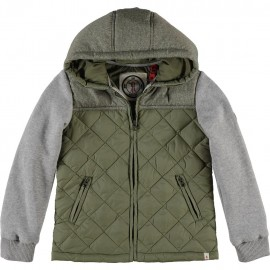 CKS Jacket padded and hooded boy khaki green