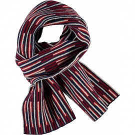 CKS Scarf knitted boy dark blue and bordeaux red