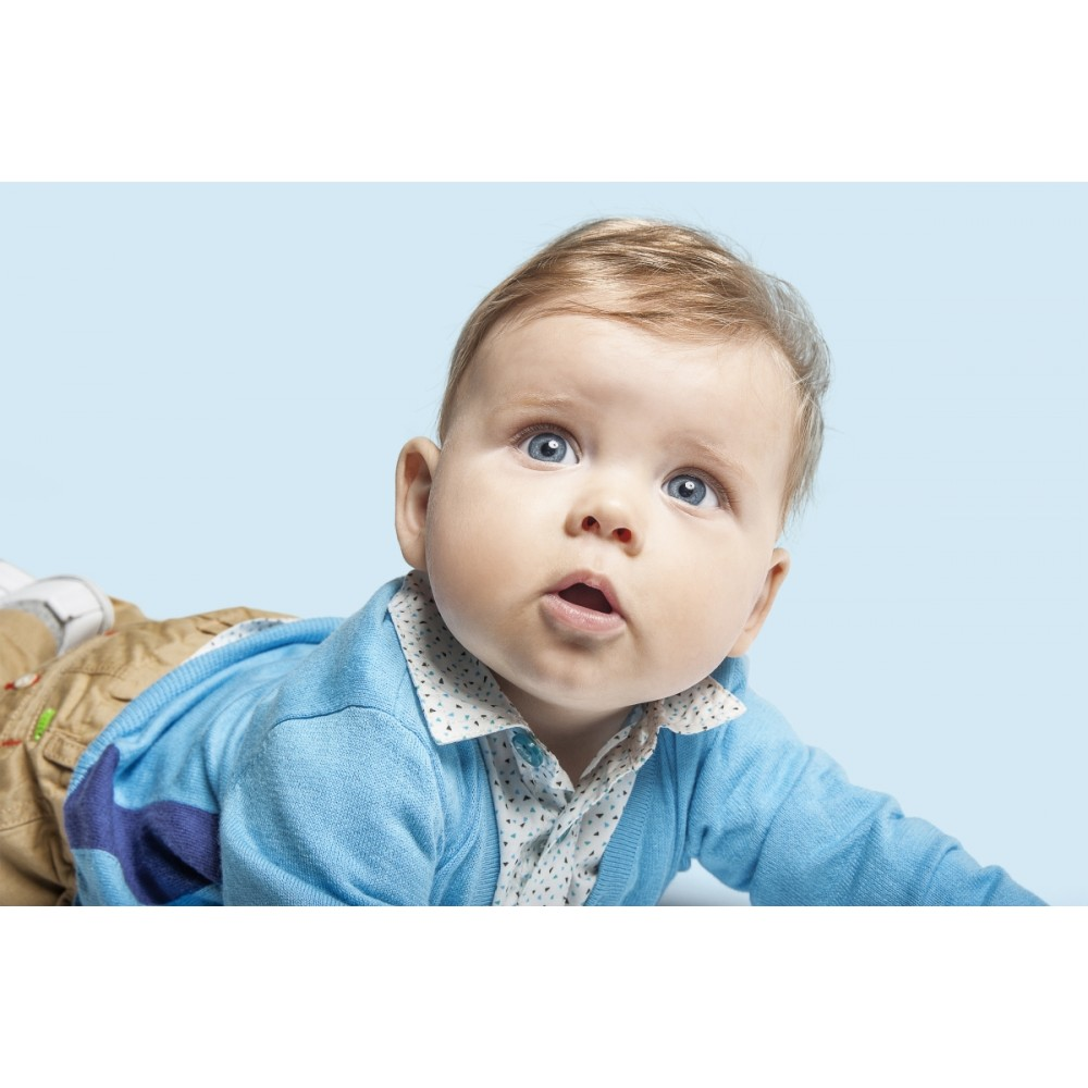 1bdae4754 CKS Cardigan baby boy in very soft cotton turquoise and cobalt blue