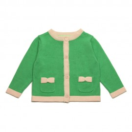 VINROSE Cardigan round neck girl green