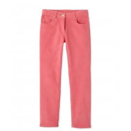 PETIT BATEAU Trousers in stretch corduroy girl coral pink