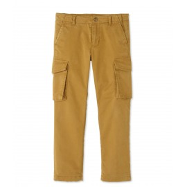 PETIT BATEAU Trousers in gabardine stretch cotton boy camel