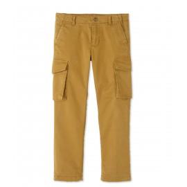 PETIT BATEAU Trousers in gabardine stretch cotton boy camel