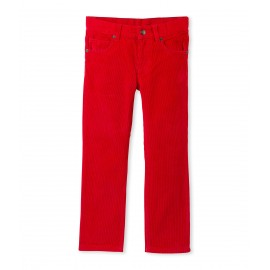 PETIT BATEAU Trousers in stretch corduroy boy red